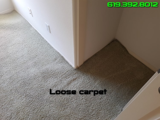 Repair Restretch Loose Carpet San Diego