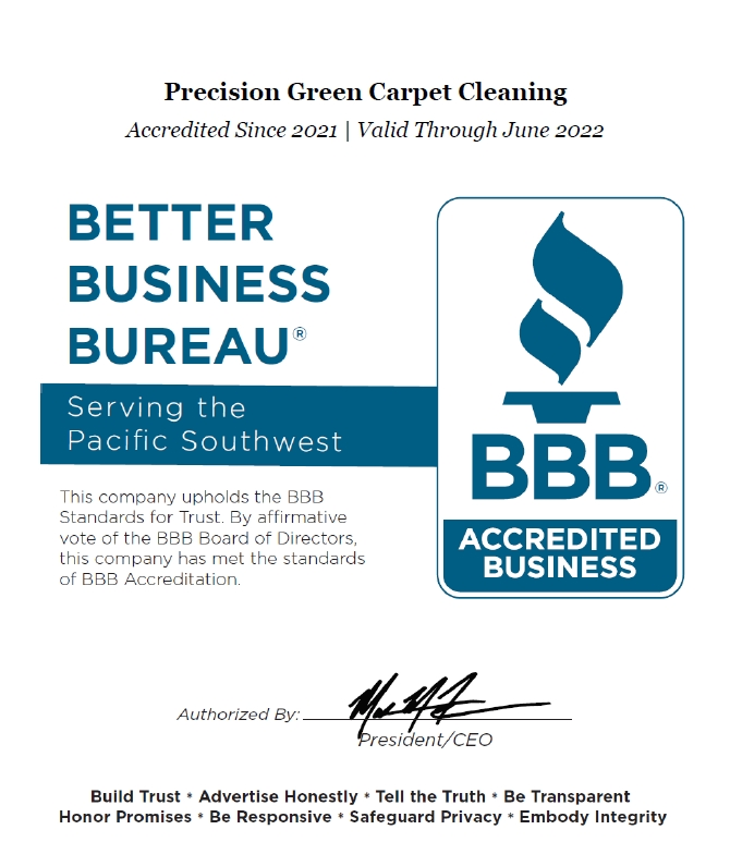 BBB A+ Precision Green Carpet Cleaning